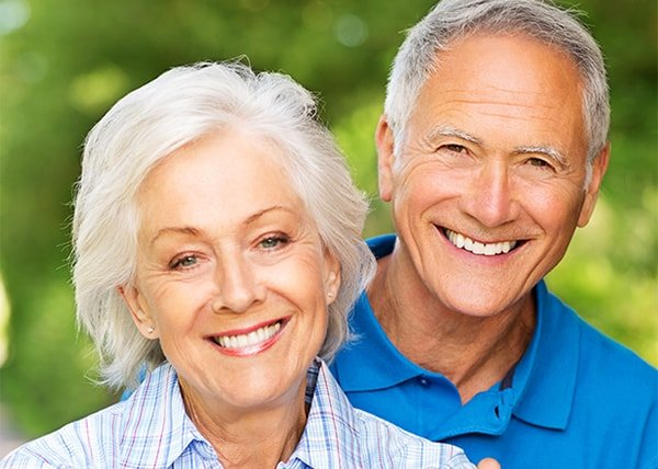 Retired couple with great restorative dental care